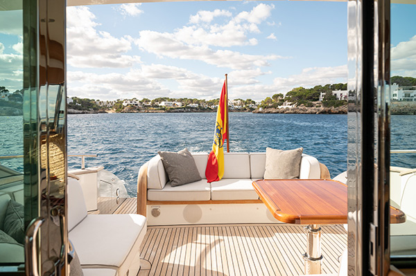 Deck View of Mulder Favorite 1500 Luxury Yacht in Mallorca