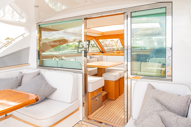 Interior view of a Mulder Yacht Charter based in Mallorca