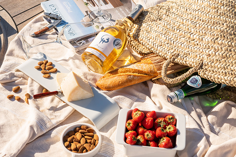 Aperitif and wine served on M/Y Kiney Luxury Yacht Charter in Mallorca